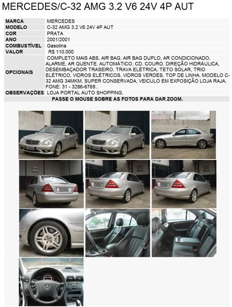 W203 C32 AMG - R$ 92.500,00 (VENDIDA) C36