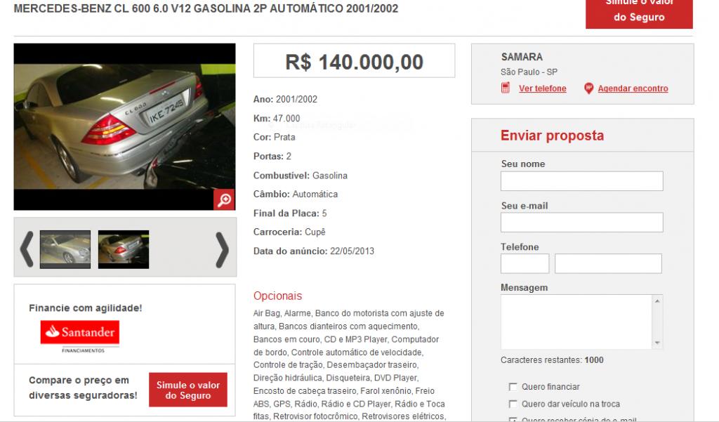 C215 CL600 2001/2002 - R$ 140.000,00 CL600_zps635855ca