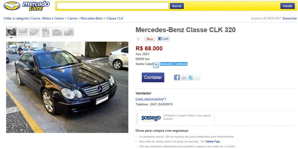 CLK 320 (C209) 2003 - R$ 68.000,00 CLK-2