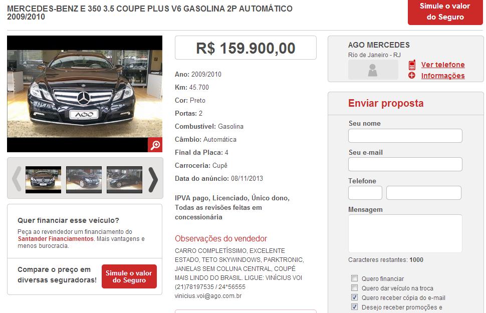 C207 E350 2009/2010 - R$ 159.900,00 E350WM_zpsa5faaf78