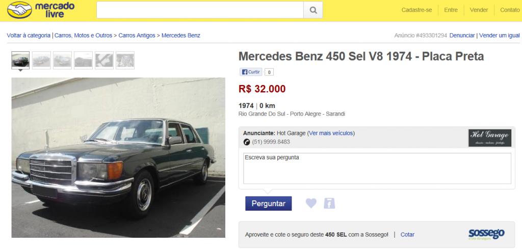 W116 450SEL 1974 - R$ 32.000,00 ML116_zpsc761e123