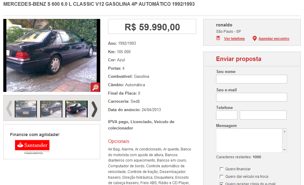 W140 S600 1992/1993 - R$ 59.990,00 S6001992_zps596673ab