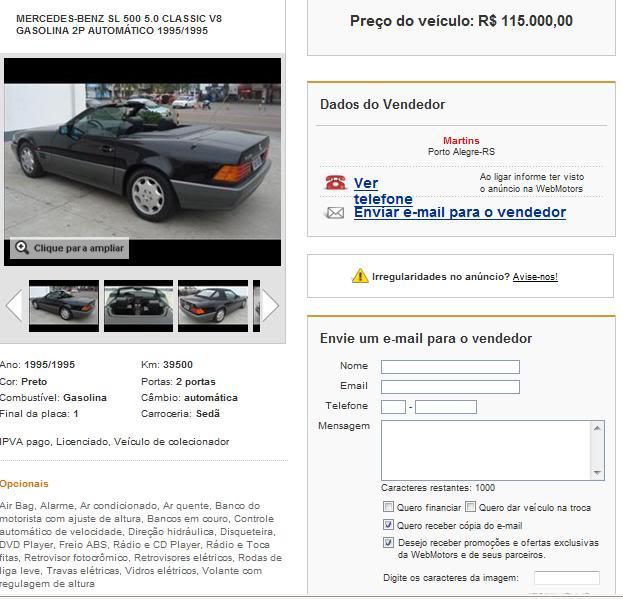 SL500 R129 1995 - 115.000 reais Sl1995