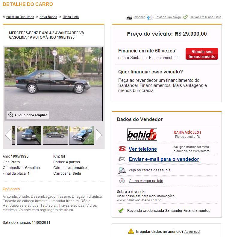 E420 95 Preta R$ 29.900,00 - Página 2 E420