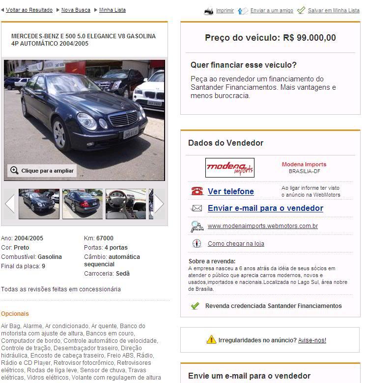 W211 E500 Elegance - 2005  E500