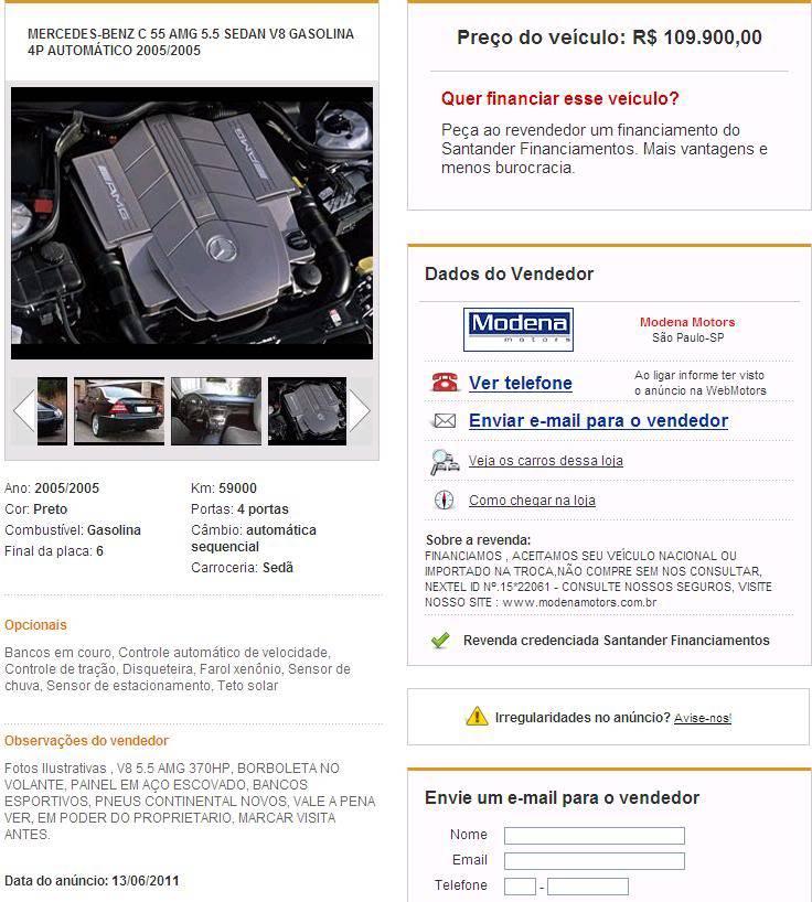 Mercedes Benz C55 AMG 2005/2005  R$109900 Imagem-1