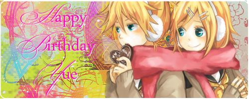 .:: Happy Birthday Yue! ::. Yue