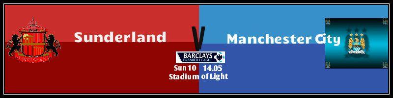 Sunderland v Man City Cityathome