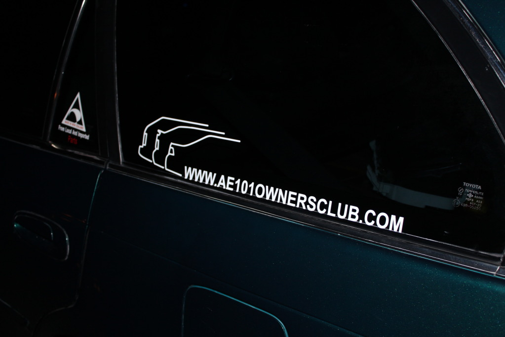 ***NEW** AE101 Owners Club Sticker***NEW*** IMG_1003