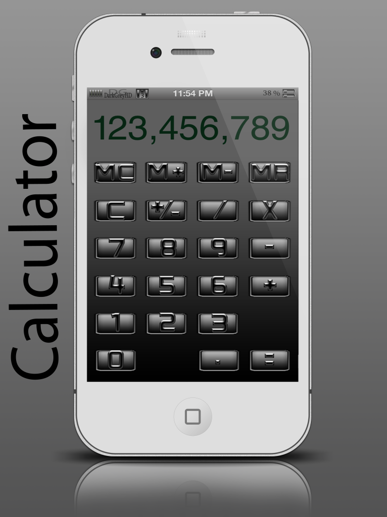 BETA RELEASE DarkGreyHD - by SEANSGRAPHICS Calculator