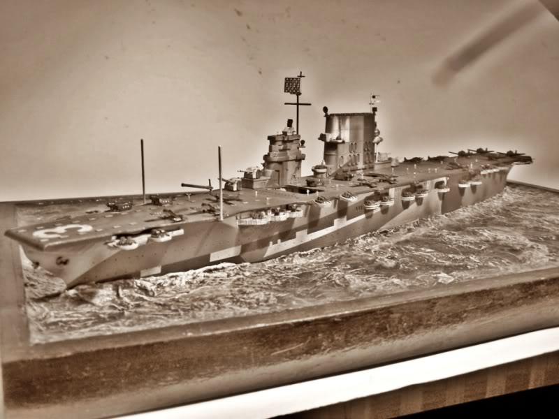 Portaaviones uss Saratoga CV-3.FUJIMI  1/700 SARATOGABLANCOYNEGRO