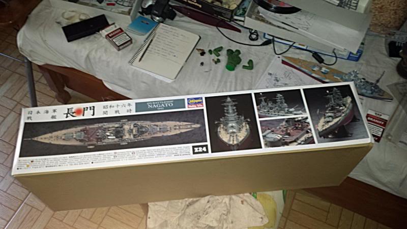 IJN NAGATO 1/350 HASEGAWA CON FG,S LION ROAR.avances 1-09-13 20130826_134622