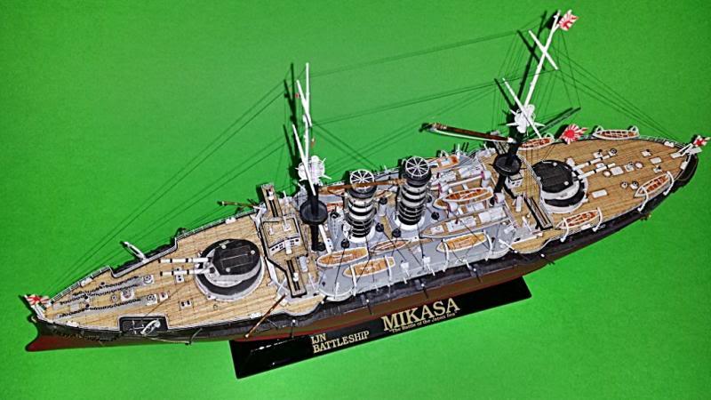 IJN Mikasa hasegawa 1/350 20131103_184554