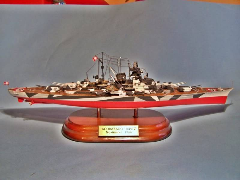 Acorazado tirpitz trumpeter 1/700 100_4872