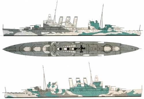 KIT DE AIRFIX 1/200 SINK THE BISMARCK - Página 2 Hms_suffolk_heavy_cruiser_1941-49259