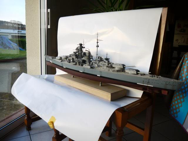bismarck 1/200 the big maquette !! - Page 7 P1010881