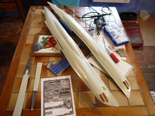 U boat VIIc  Set pe résine Eduard / CMK P1020147
