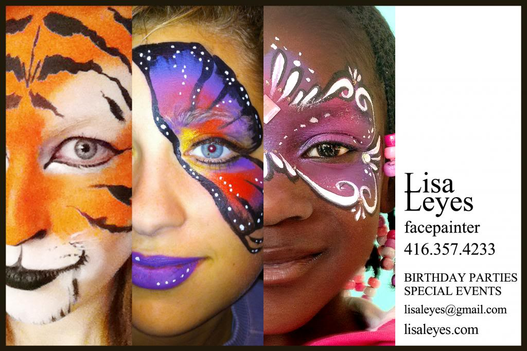 My Husband Has Created A New Post Card Sized Business For Me Face Painting I Love This Format He