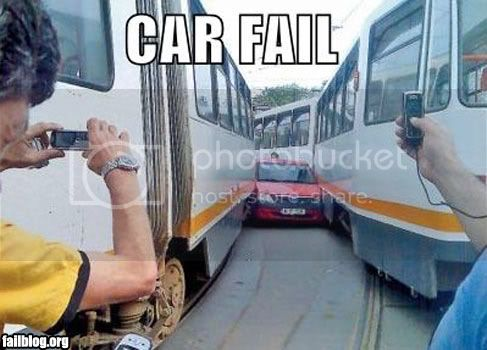FAILS, For Ever Alone, FUck Yeah Fail-owned-car-train-fail
