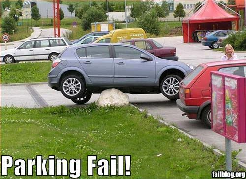 FAILS, For Ever Alone, FUck Yeah Fail-owned-parking-rock-fail