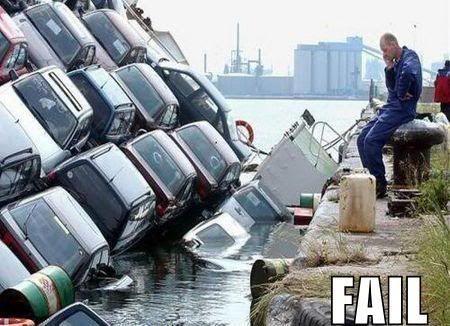 FAILS, For Ever Alone, FUck Yeah New-car-fail