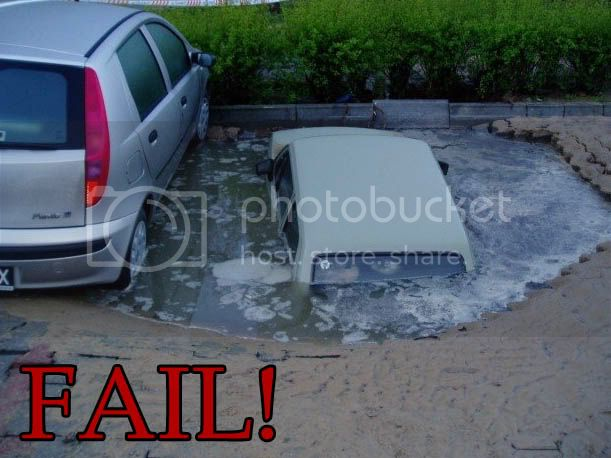 FAILS, For Ever Alone, FUck Yeah Sinking-car