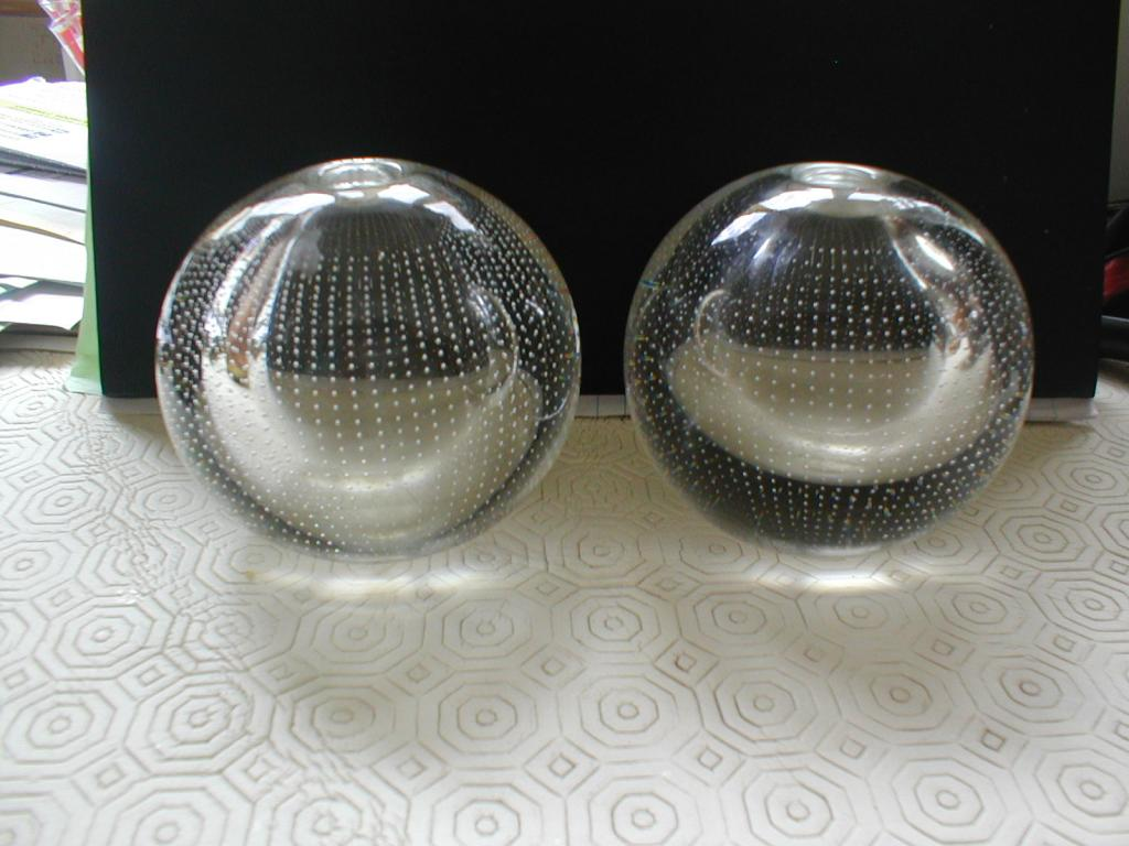 Pair of controlled bubble glass vases 240613001_zps40227343