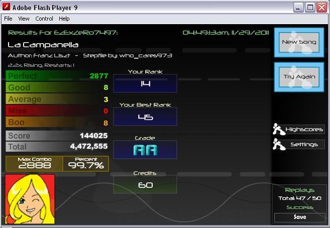 Post your FFR Scores here! - Page 15 LaCampanella