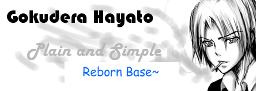 Signature of the Week - 1 - Gokudera Hayato Hayatosig2