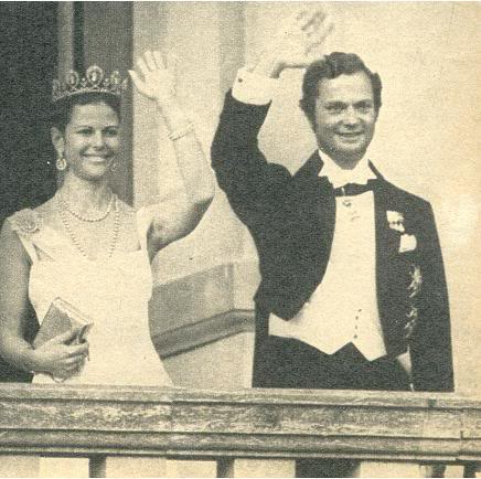 Silvia Sommerlath, reina de Suecia Prewedding1976CGSwaving