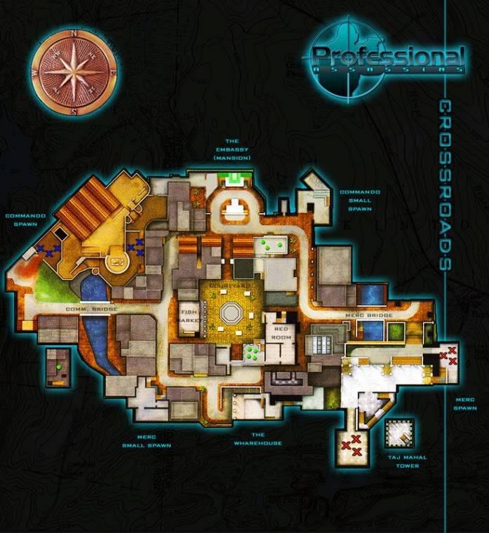Blueprints of Maps Crossroads