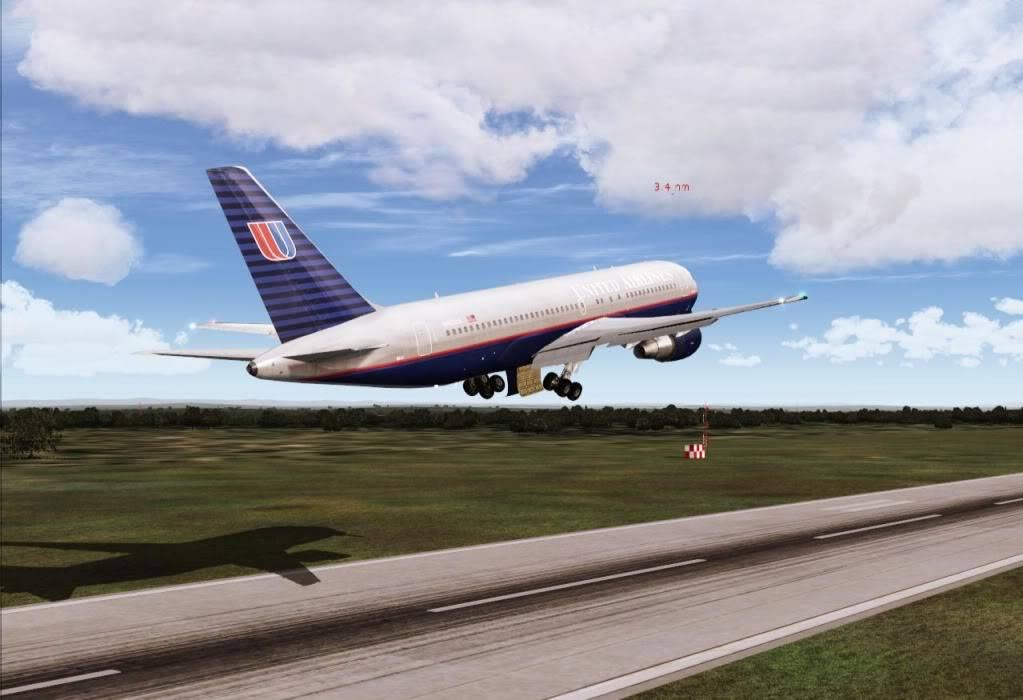 [FS9] - UA 77 - O vôo que não terminou UA77decolando