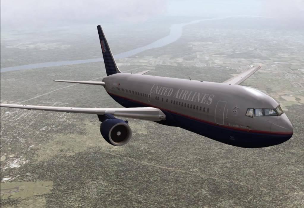 [FS9] - UA 77 - O vôo que não terminou UA77subindoFL330