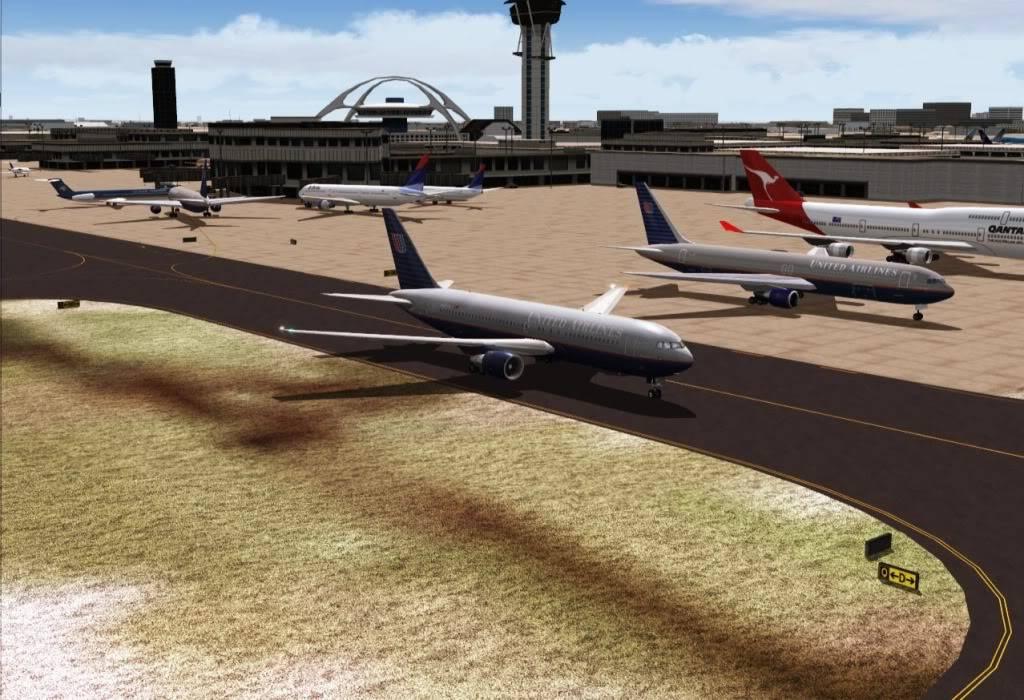 [FS9] - UA 77 - O vôo que não terminou UA77taxiandogate