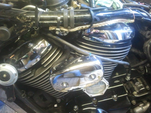"""* 9"""" Clutch Cable Modification For Use With Apes on Suzuki C800 / C50* 2012-08-20181421"""