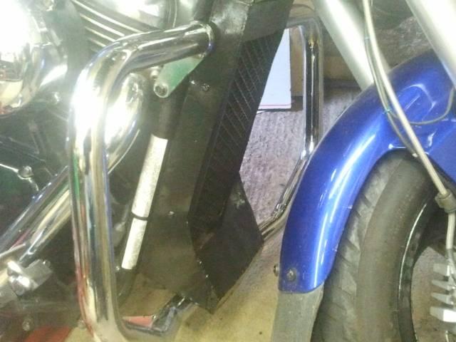 Alfie's Prototype Radiator Cover, Suzuki M50 / M800 2012-10-11163024