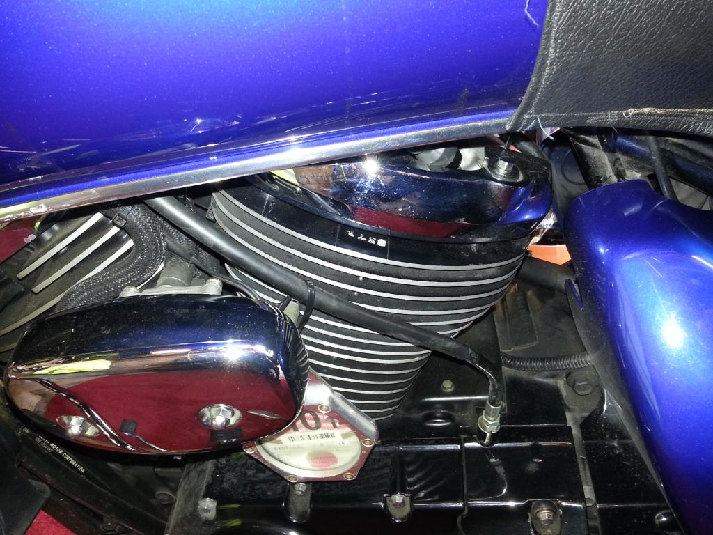 VL Bars Fitted To A Suzuki M50 / M800 20140605_143532