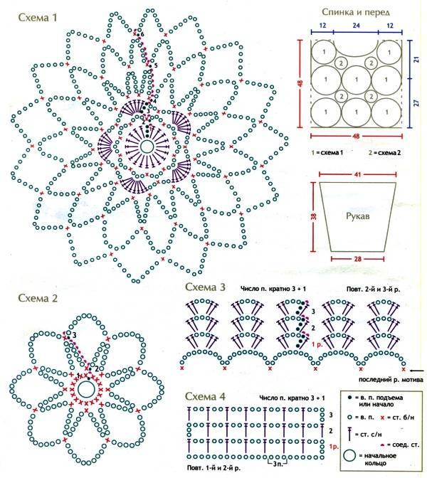 Provocarea nr. 9 - croset - motive florale Dm10