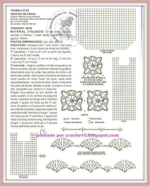 Provocarea nr. 9 - croset - motive florale 4sch