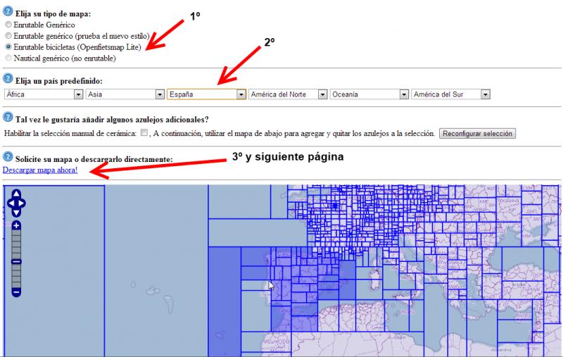 Mapas Ruteables para Bici Openstreetmap