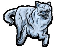 BluuWynter Runningwolftonguegrayscale