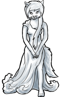 BluuWynter Wolfgoddessgrayscaledpose
