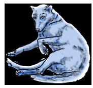 BluuWynter Curlwolfgrayscale