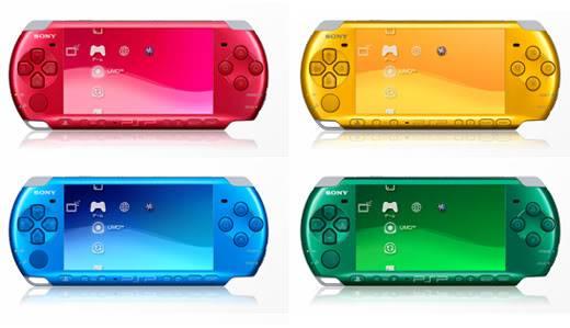 2004 PSP (PlayStation Portable) Psp3000colors