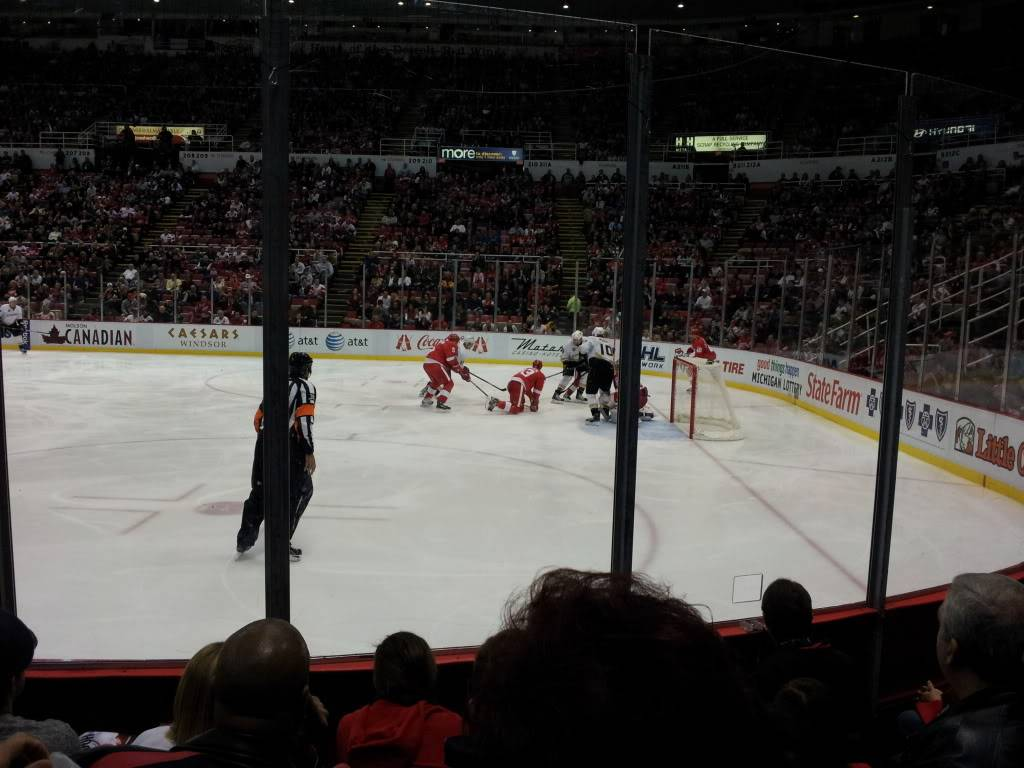 Detroit Red Wings and Anaheim Ducks Shane and I went too!!!  2011-11-05200618