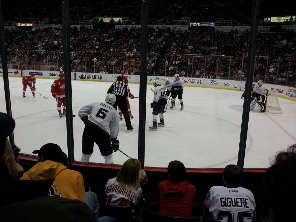 Detroit Red Wings and Anaheim Ducks Shane and I went too!!!  2011-11-05211213