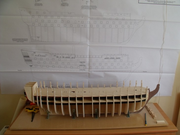 Caldercraft's 1:72 Scale HMS Victory Gettingreadytofittemplates