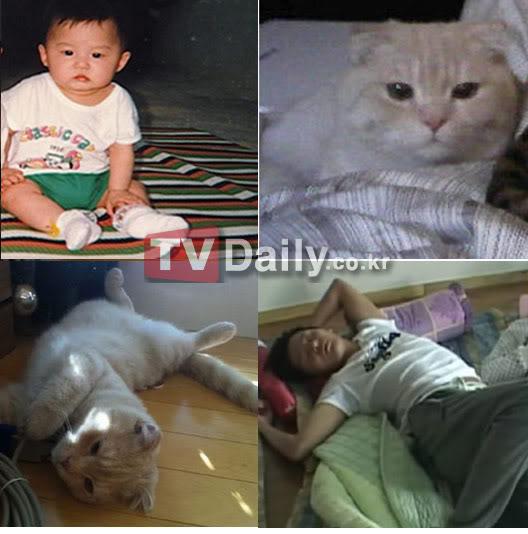 """Kim Junsu se asemeja perfectamente a su gato """"Ellos realmente se parecen"""" Jscat"""