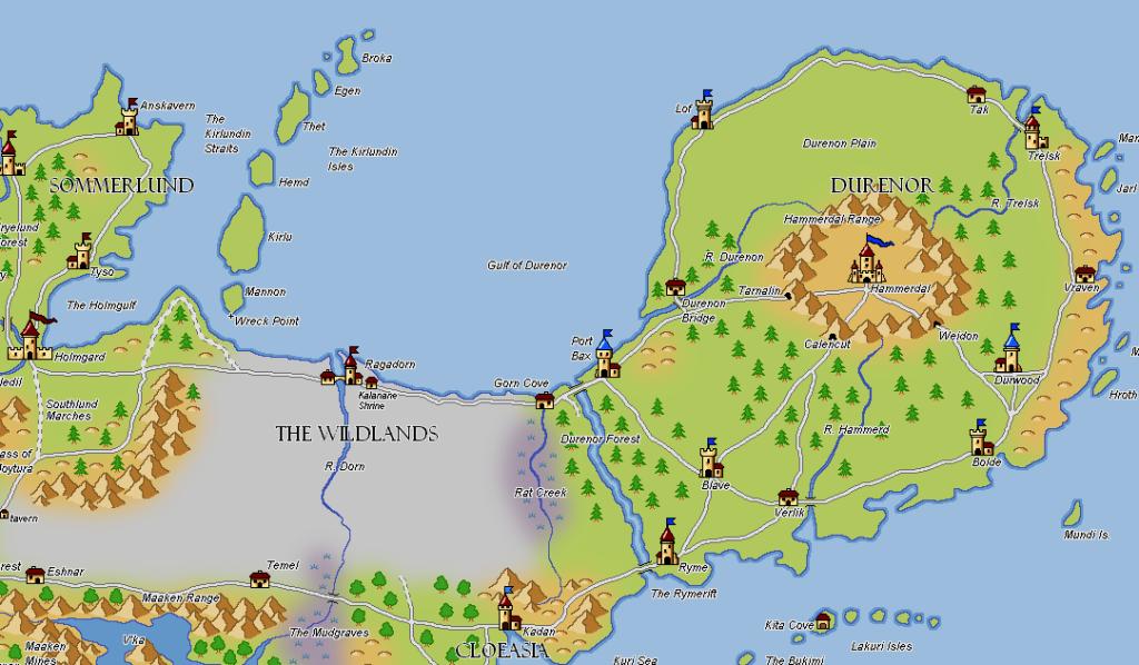 Les cartes du Magnamund Durenor