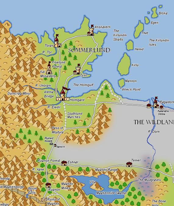 Les cartes du Magnamund Flight-map